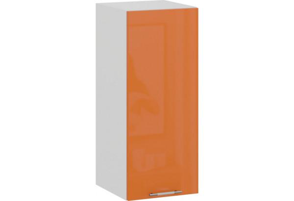 Шкаф навесной c одной дверью «Весна» (Белый/Оранж глянец) - фото 1