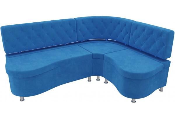 Кухонный угловой диван Вегас Голубой (Велюр) - фото 4