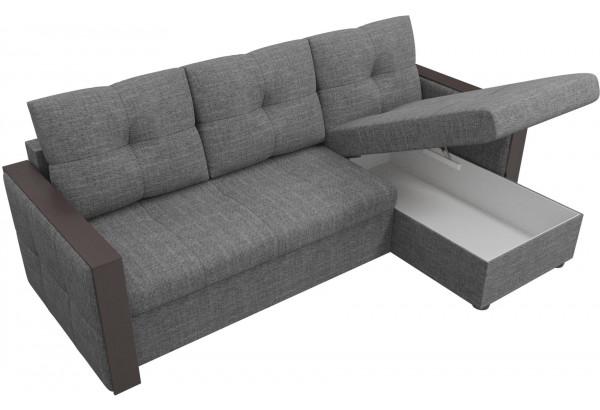 Угловой диван Валенсия Серый (Рогожка) - фото 5