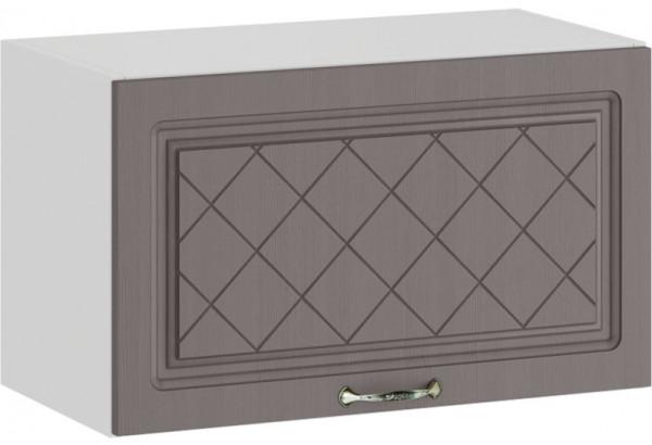 Шкаф навесной c одной откидной дверью «Бьянка» (Белый/Дуб серый) - фото 1