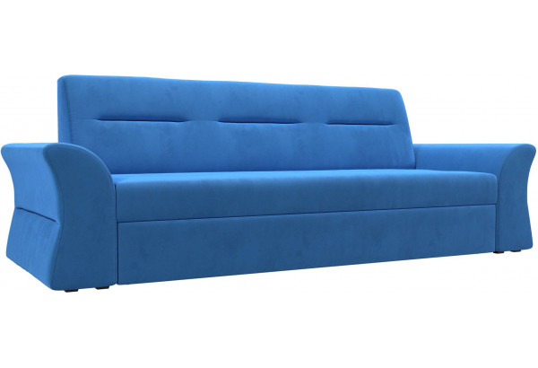 Прямой диван Клайд Голубой (Велюр) - фото 1