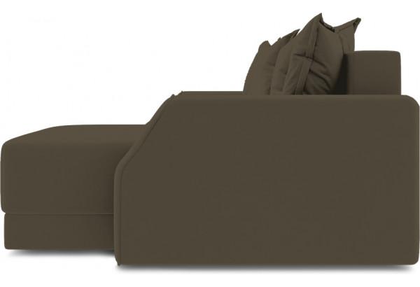 Диван угловой правый «Люксор Slim Т1» (Beauty 04 (велюр) коричневый) - фото 5