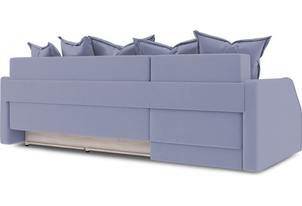 Диван угловой левый «Люксор Slim Т1» (Poseidon Blue Graphite (иск.замша) серо-фиолетовый) - фото 4