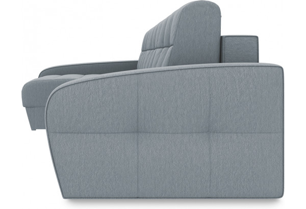 Диван угловой левый «Аспен Slim Т2» (Kolibri Silver (велюр) серый) - фото 3