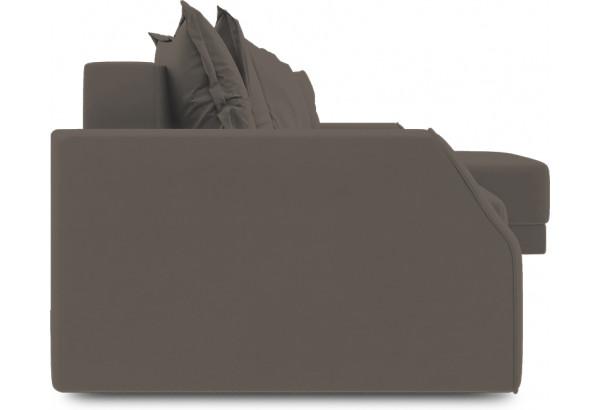 Диван угловой правый «Люксор Slim Т1» (Poseidon Coffee (иск.замша) коричневый) - фото 3