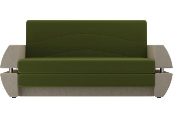 Диван прямой Атлант Т мини Зеленый/Бежевый (Микровельвет) - фото 2