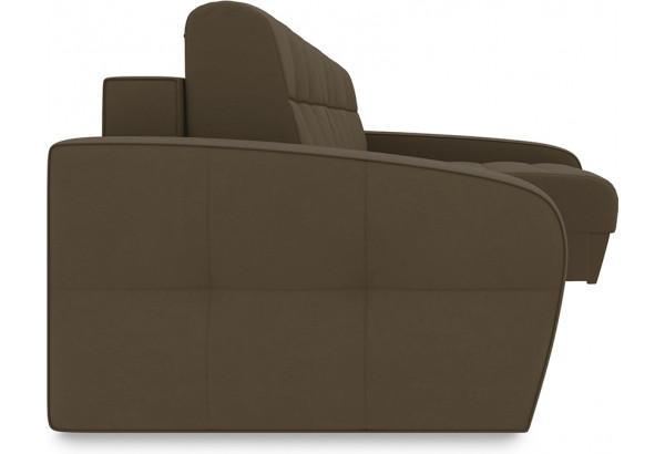 Диван угловой правый «Аспен Т2» Beauty 04 (велюр) коричневый - фото 3