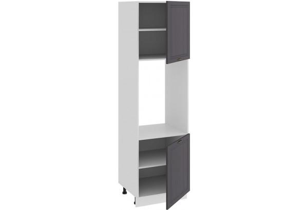 Шкаф-пенал под бытовую технику с двумя дверями «Лина» (Белый/Графит) - фото 2