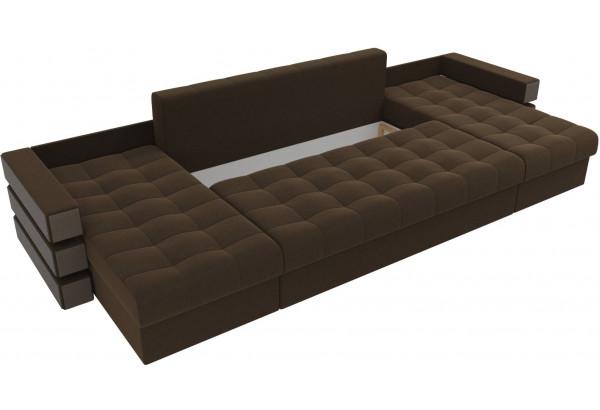 П-образный диван Венеция Коричневый (Микровельвет) - фото 6