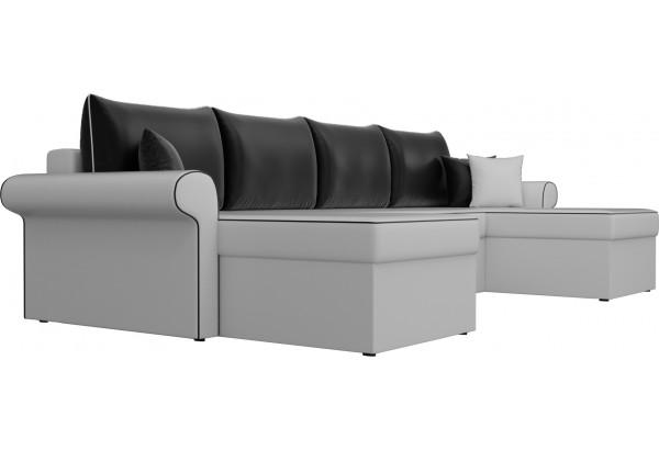 П-образный диван Милфорд Белый/Черный (Экокожа) - фото 3