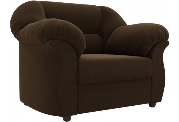 Кресло Карнелла Коричневый (Микровельвет) - фото 1