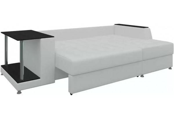 Угловой диван Атланта Белый (Экокожа) - фото 4