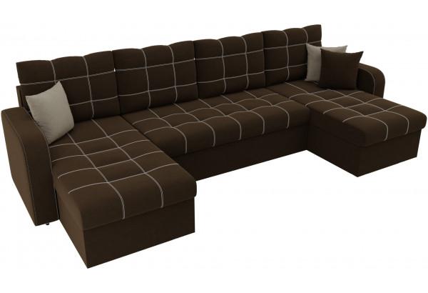 П-образный диван Ливерпуль Коричневый (Микровельвет) - фото 4