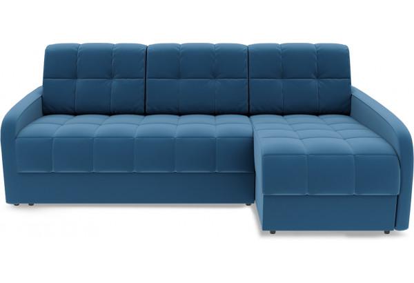 Диван угловой правый «Аспен Slim Т2» (Beauty 07 (велюр) синий) - фото 2
