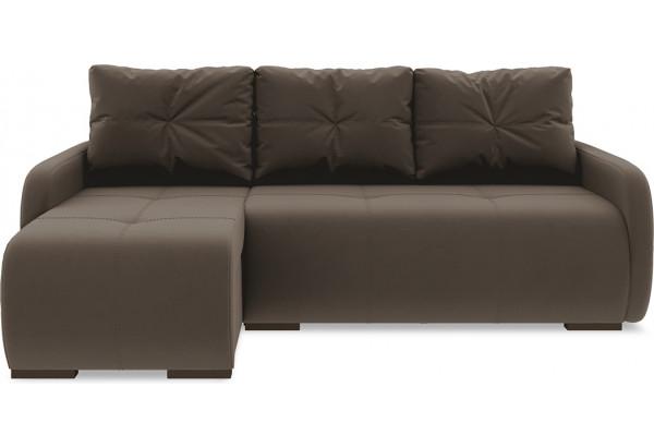 Диван угловой левый «Томас Slim Т1» Beauty 04 (велюр) коричневый - фото 2