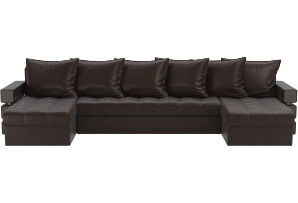 П-образный диван Венеция Коричневый (Экокожа) - фото 2