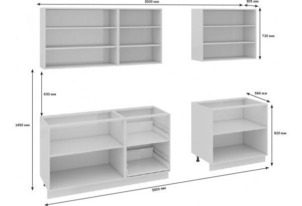 Кухонный гарнитур длиной - 300 см Фэнтези (Вуд) - фото 3