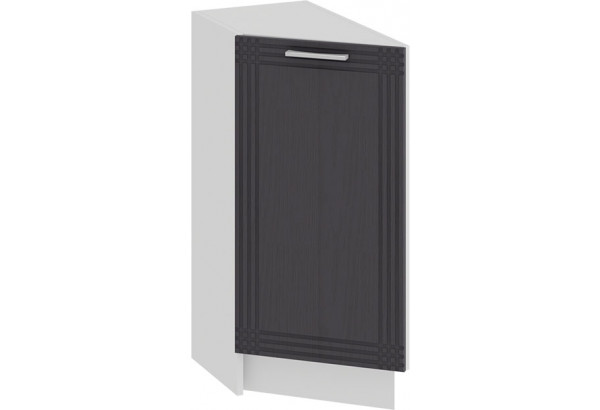 Шкаф напольный торцевой с одной дверью «Ольга» (Белый/Графит) - фото 1