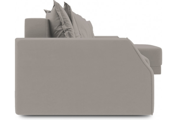 Диван угловой правый «Люксор Slim Т1» (Galaxy 05 (велюр) светло-коричневый) - фото 3