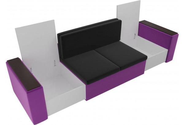 Детский диван Арси черный/фиолетовый (Микровельвет) - фото 6