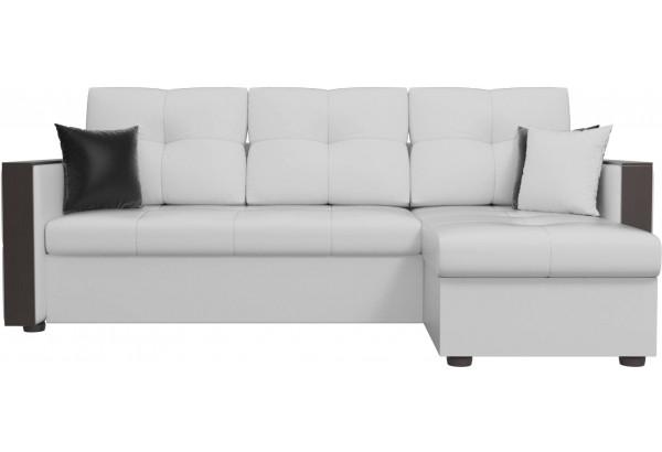 Угловой диван Валенсия Белый (Экокожа) - фото 2