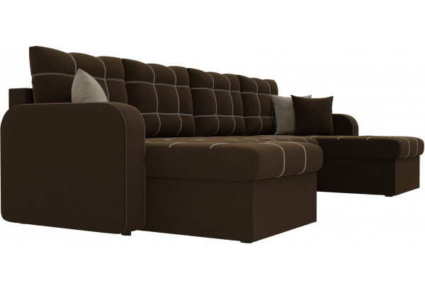 П-образный диван Ливерпуль Коричневый (Микровельвет) - фото 3