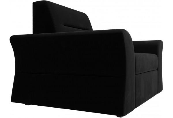 Кресло Клайд Черный (Микровельвет) - фото 6