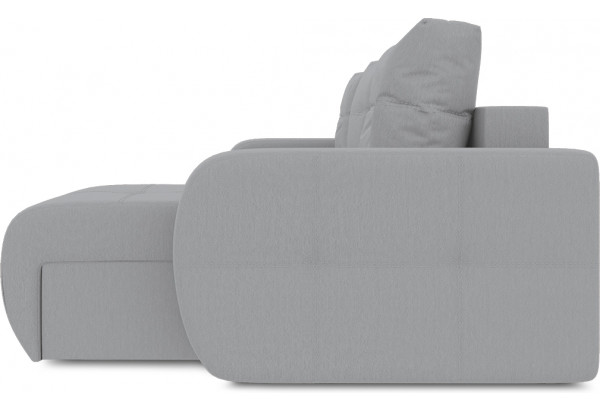 Диван угловой правый «Томас Slim Т1» (Poseidon Grey (иск.замша) серый) - фото 5