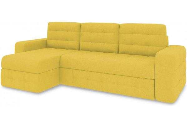 Диван угловой левый «Райс Т1» (Neo 08 (рогожка) желтый) - фото 1