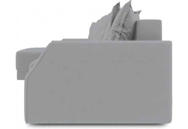 Диван угловой левый «Люксор Slim Т1» (Poseidon Grey (иск.замша) серый) - фото 3