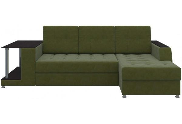 Угловой диван Атланта Зеленый (Микровельвет) - фото 2