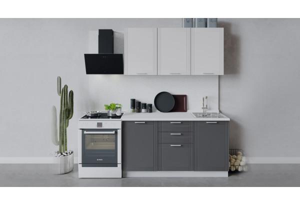 Кухонный гарнитур «Ольга» длиной 150 см (Белый/Белый/Графит) - фото 1