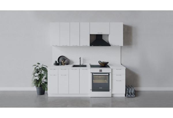 Кухонный гарнитур «Весна» длиной 220 см (Белый/Белый глянец) - фото 1