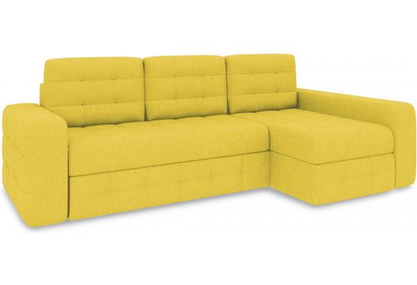Диван угловой правый «Райс Т2» (Neo 08 (рогожка) желтый) - фото 1