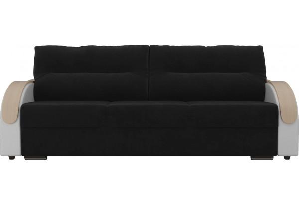 Прямой диван Дарси Черный/Белый (Велюр/Экокожа) - фото 2