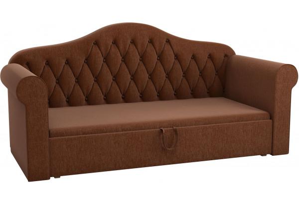 Детская кровать Делюкс Коричневый (Рогожка) - фото 1