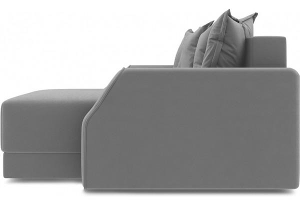 Диван угловой правый «Люксор Slim Т1» (Galaxy 04 (велюр) темно-коричневый) - фото 3