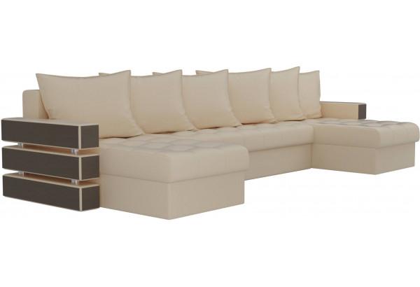 П-образный диван Венеция Бежевый (Экокожа) - фото 3