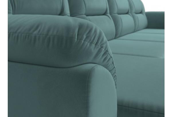 П-образный диван Бостон бирюзовый (Велюр) - фото 4