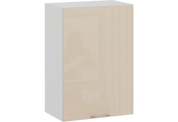 Шкаф навесной c одной дверью «Весна» (Белый/Ваниль глянец) - фото 1