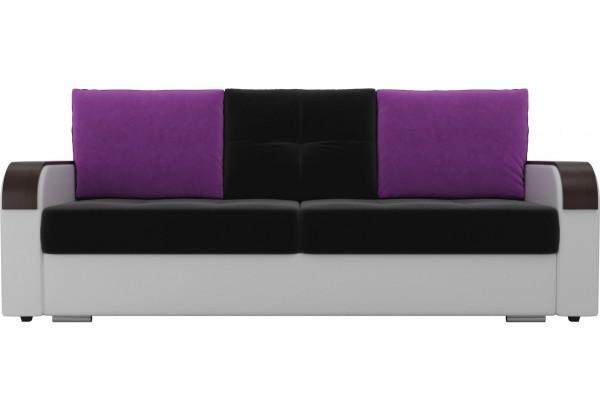 Прямой диван Мейсон Черный/Белый (Микровельвет/Экокожа) - фото 2