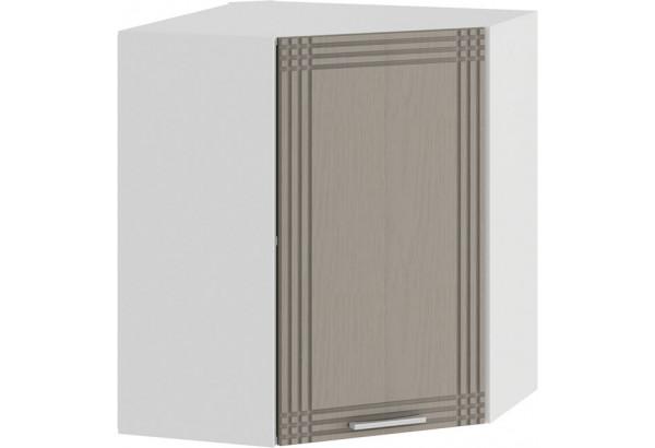Шкаф навесной угловой «Ольга» (Белый/Кремовый) - фото 1