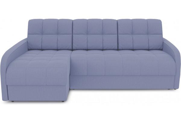 Диван угловой левый «Аспен Slim Т2» (Poseidon Blue Graphite (иск.замша) серо-фиолетовый) - фото 2