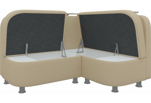 Кухонный угловой диван Уют 2 Бежевый (Экокожа) - фото 3