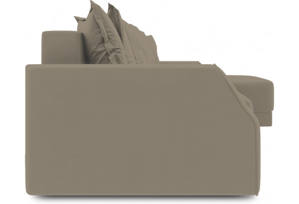 Диван угловой правый «Люксор Slim Т1» (Poseidon Mocco (иск.замша) светло-коричневый) - фото 3