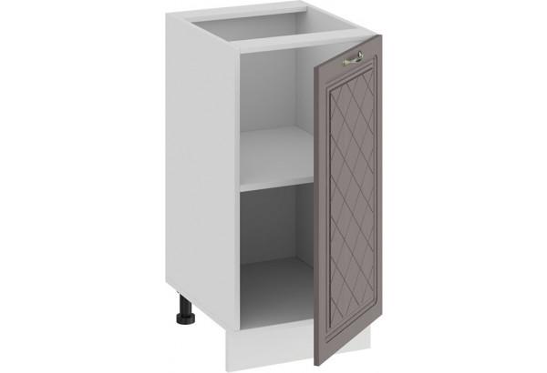 Шкаф напольный с одной дверью «Бьянка» (Белый/Дуб серый) - фото 2