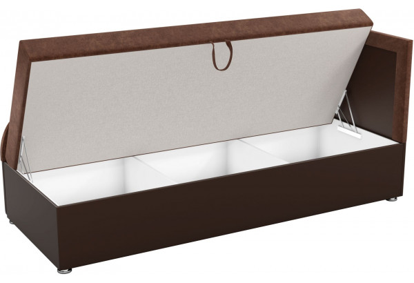 Детский диван Дюна коричневый/коричнева (Микровельвет) - фото 2
