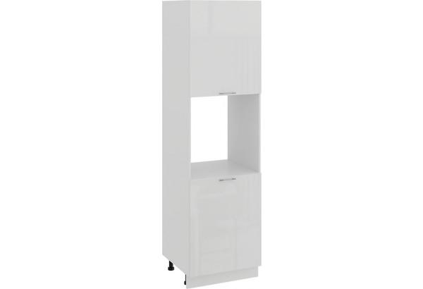 Шкаф-пенал под бытовую технику с двумя дверями «Весна» (Белый/Белый глянец) - фото 1
