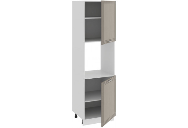 Шкаф-пенал под бытовую технику с двумя дверями «Ольга» (Белый/Кремовый) - фото 2