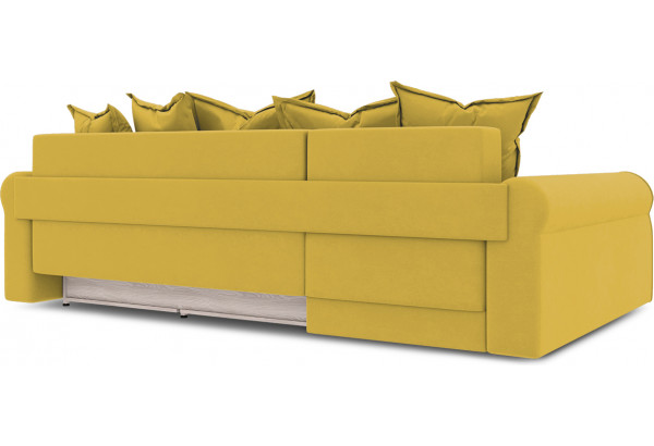 Диван угловой левый «Люксор Т2» (Poseidon Curcuma (иск.замша) желтый) - фото 4